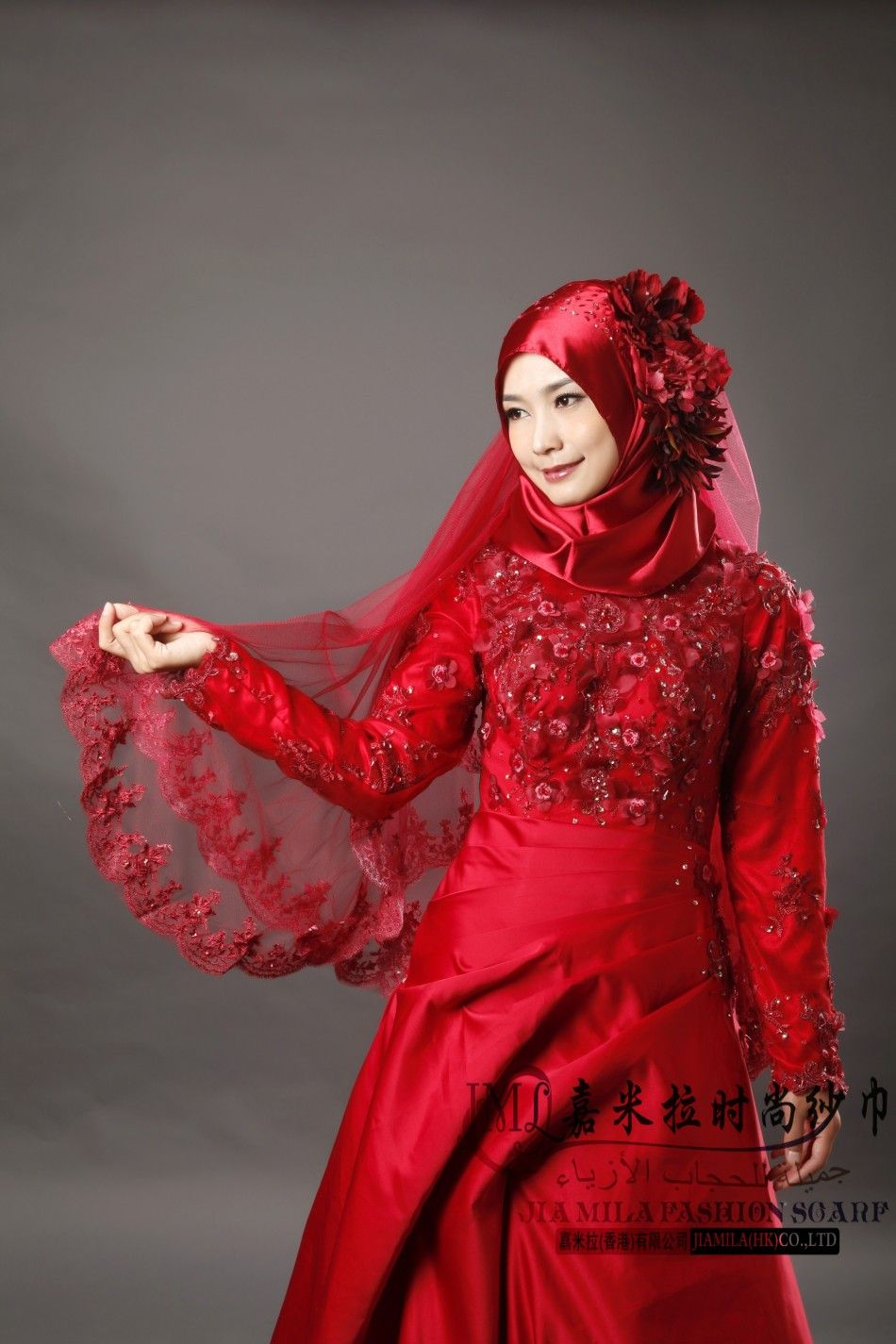 Beautiful Muslim Wedding Dresses Red Dress Images
