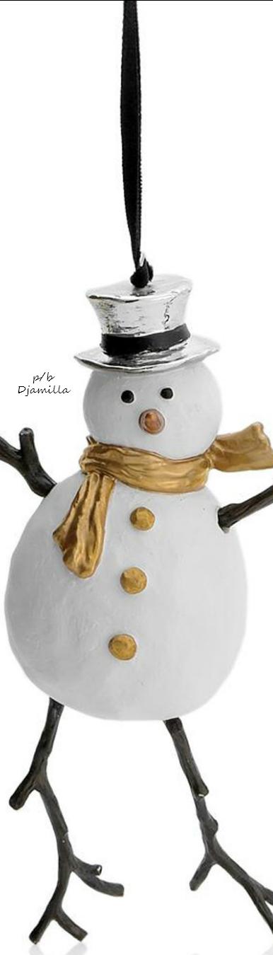 Michael Aram Ornament - Snowman | I LOVE CHRISTMAS II | Pinterest ...