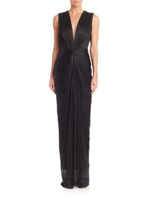 MARIA LUCIA HOHAN Yoanna Silk Gown. #marialuciahohan #cloth #gown