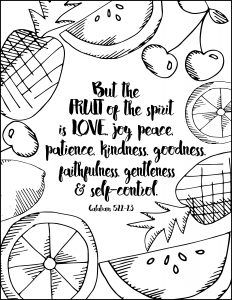 Bible Verse Coloring Page Psalm 42 7 Printable Coloring Page