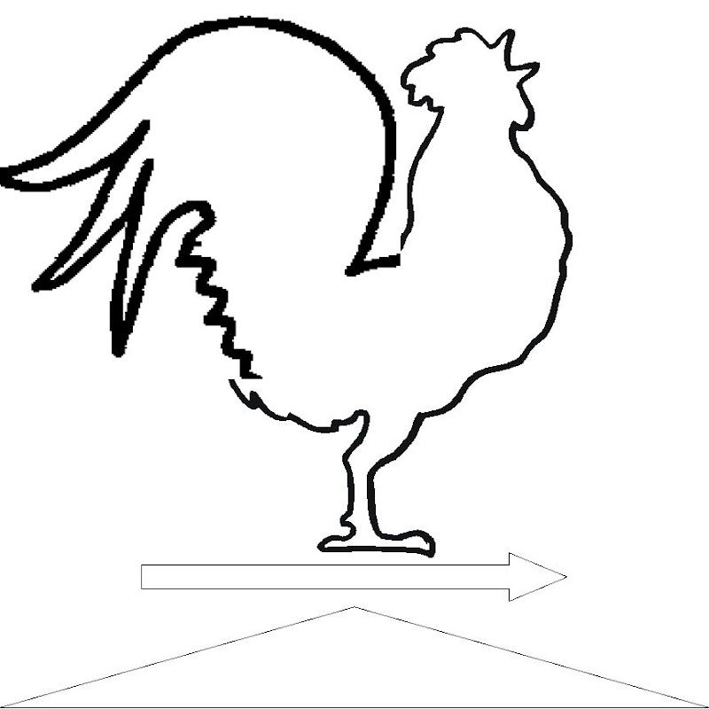 Line Drawing Rooster : Rooster applique patterns since the page was bigger than