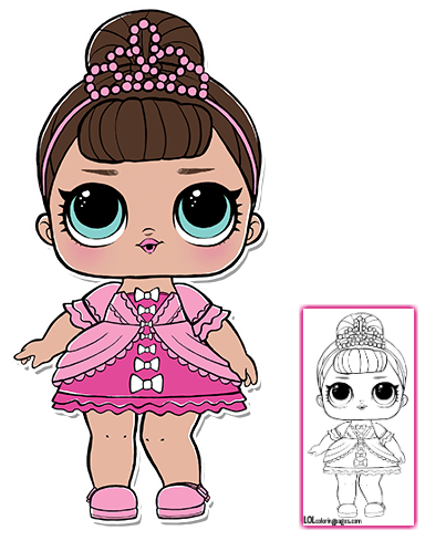 Lol Surprise Doll Coloring Pages Page 7 Color Your Favorite Lol Surprise Doll Lol Dolls Lol Coloring Pages