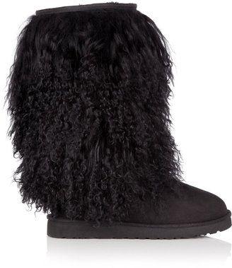 66f97bb57b9 ShopStyle: UGG Australia Black Mongolian Sheepskin Tall Boot ...