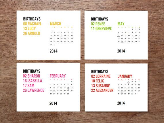 Printable 2017 Calendar - Birthday Calendar - Download & Print