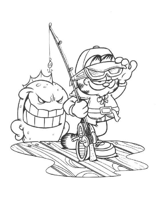 Dibujos para Colorear Garfield 26 | Garfield | Pinterest | Colorear ...