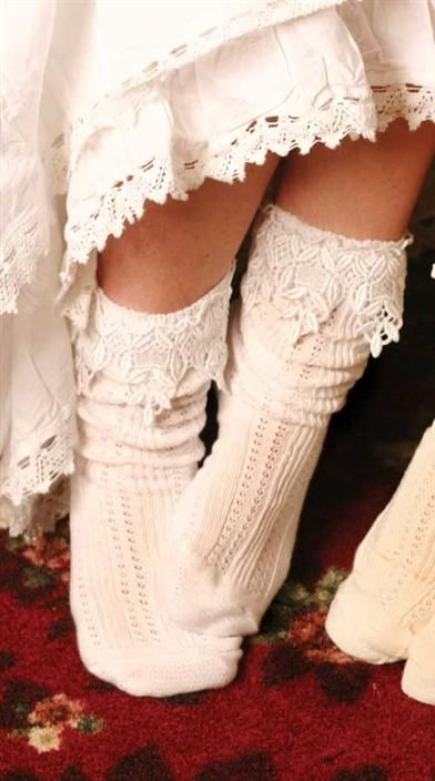 LACY SLOUCH SOCKS ~ love these!