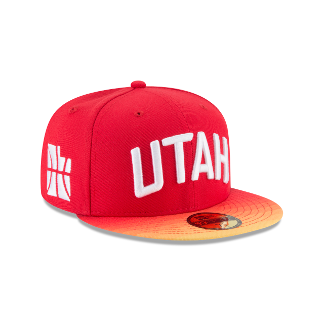 New Era Utah Jazz Fitted Hat 59Fifty NBA Basketball Flat Bill Baseball Cap