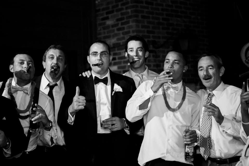 At the end of the night they all needed a cigar  - photograph by Fernando Buzetti