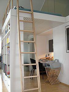 hochbett mit holzleiter zuk nftige projekte pinterest holzleiter hochbetten und bett. Black Bedroom Furniture Sets. Home Design Ideas