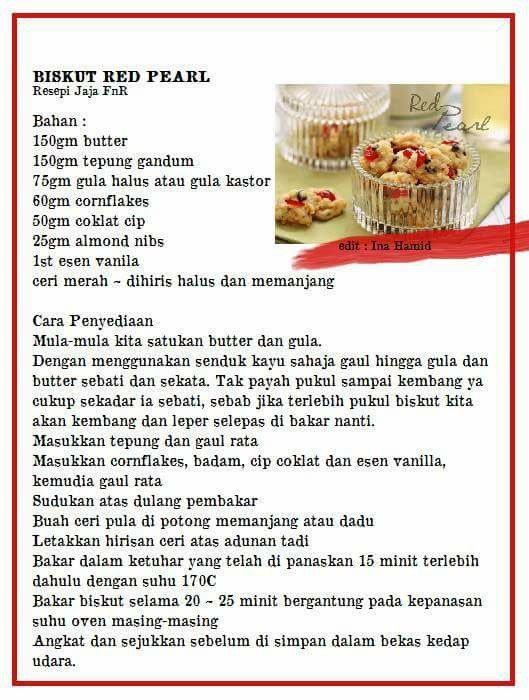 Red Pearl Cookie Recipes Homemade Recipes Biscuit Cookies