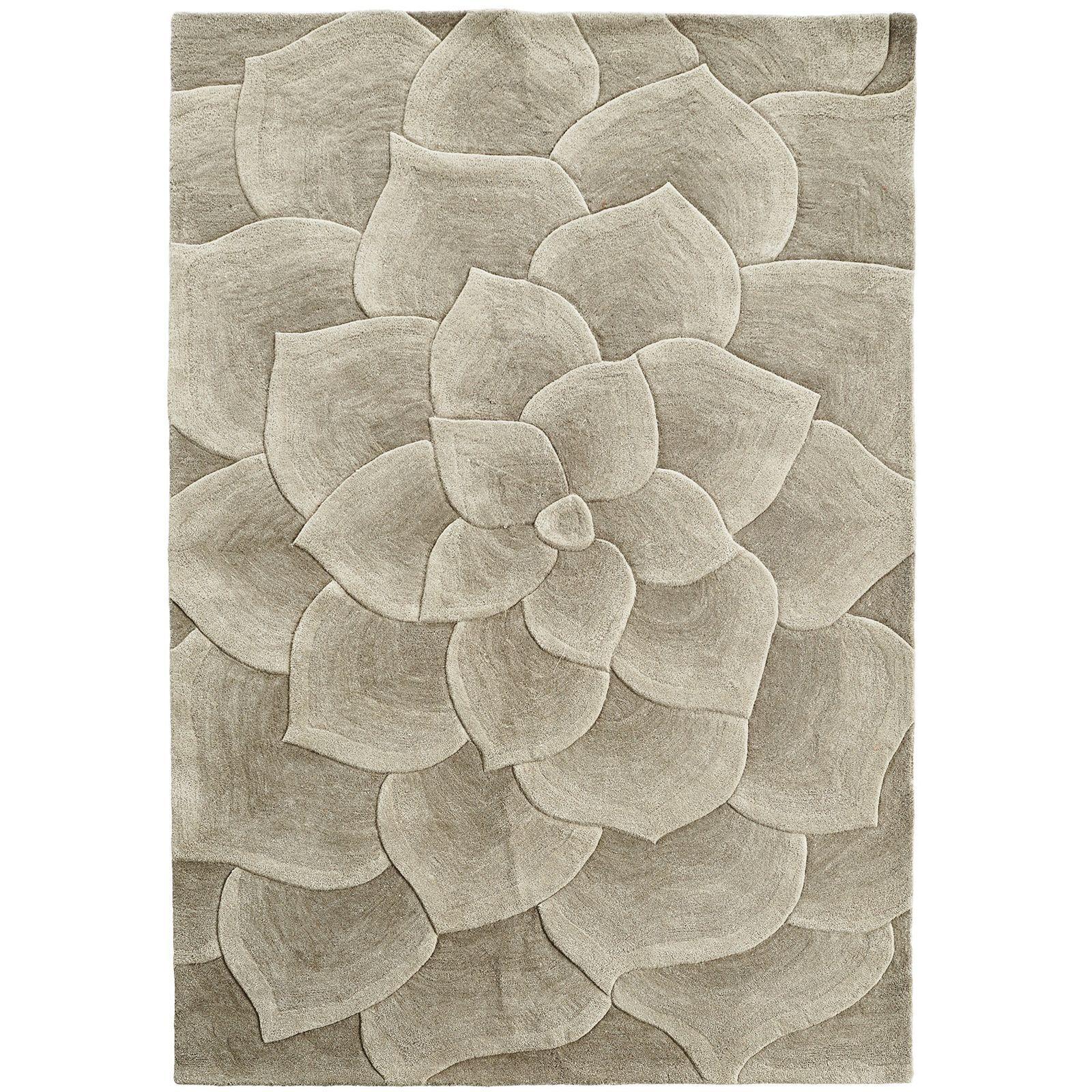 Rose Tufted Ivory 6x9 Rug