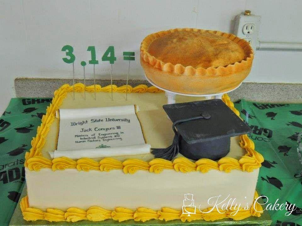 Pie graduation cake - www.KellysCakery.com