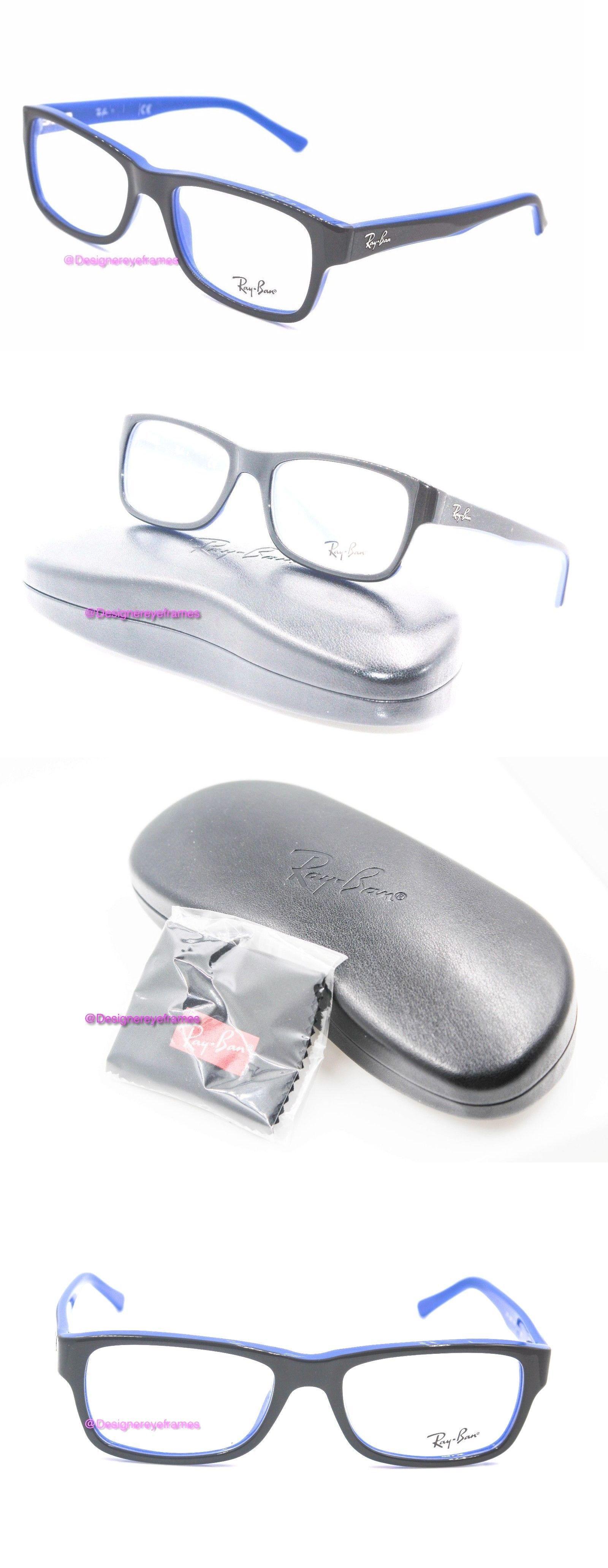 b86f4a59a7b61 ... discount eyeglass frames ray ban rb 5268 5179 black blue rectangular  52mm eyeglasses nwt auth b3195