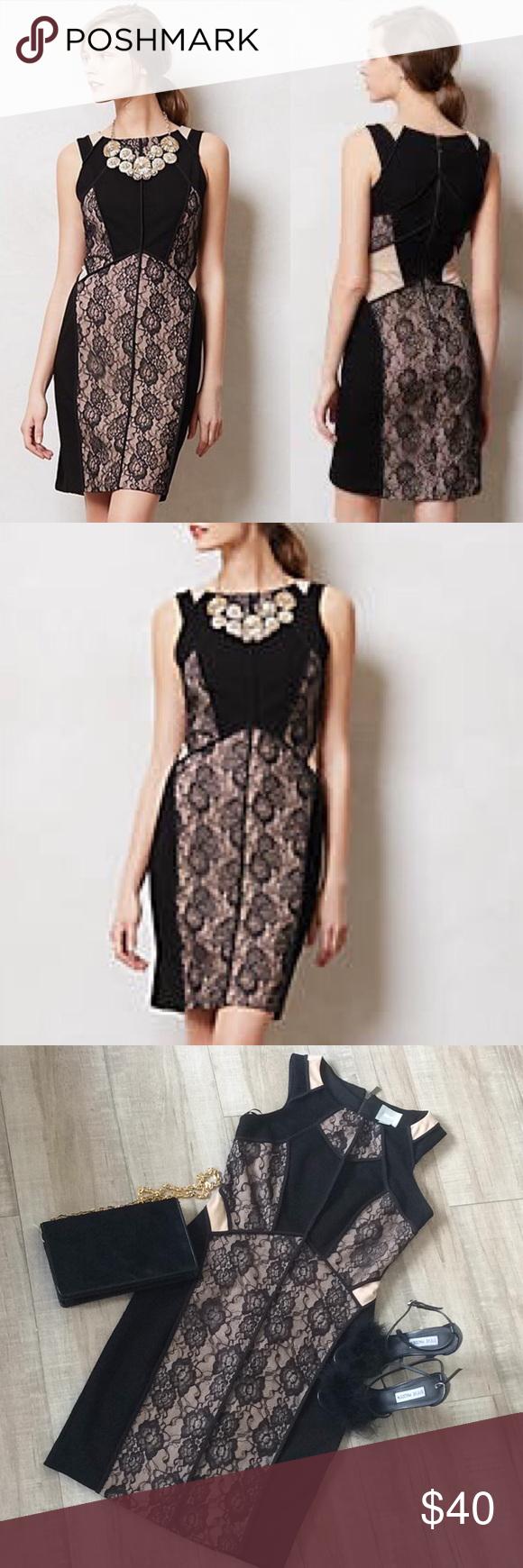 Anthropologie Maeve Black Lace Dress Sz 2 Lace Dress Black Lace Dress Black Lace [ 1740 x 580 Pixel ]