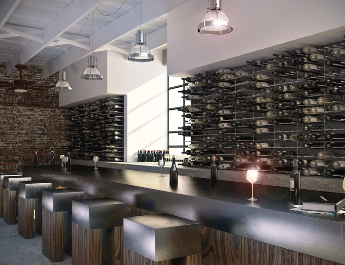 STACT Modular Wine Wall Displays are perfect for wine lounges, bars, and fine restaurants - Available now on Kickstarter for Pre-order