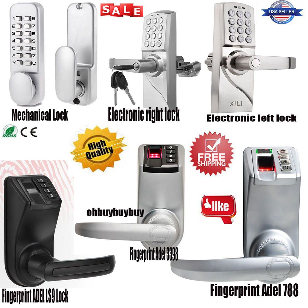Biometric Fingerprint Electronic Keyless Keypad Door Lock