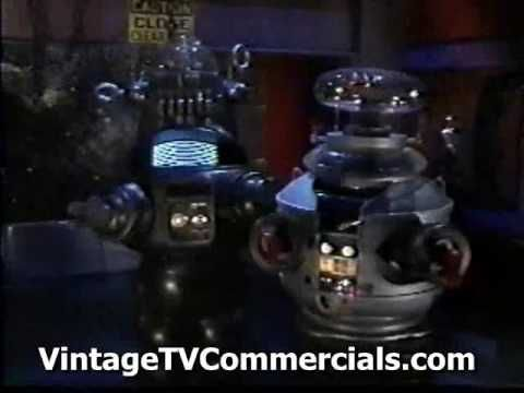 VintageTVCommercials  on www.youtube.com ~Several RARE LOST IN SPACE ROBOT B9 and ROBBY THE ROBOT TV Commercials  (Part 3)