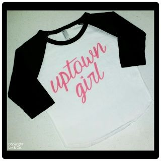 Absolutely darling 'Uptown Girl' #baby , #toddler, & #kid girl #tshirt by #LivAndCo  This #girls #teeshirt makes an excellent #gift for any little #girl in your life. #uptowngirl FREE SHIPPING IN THE USA!