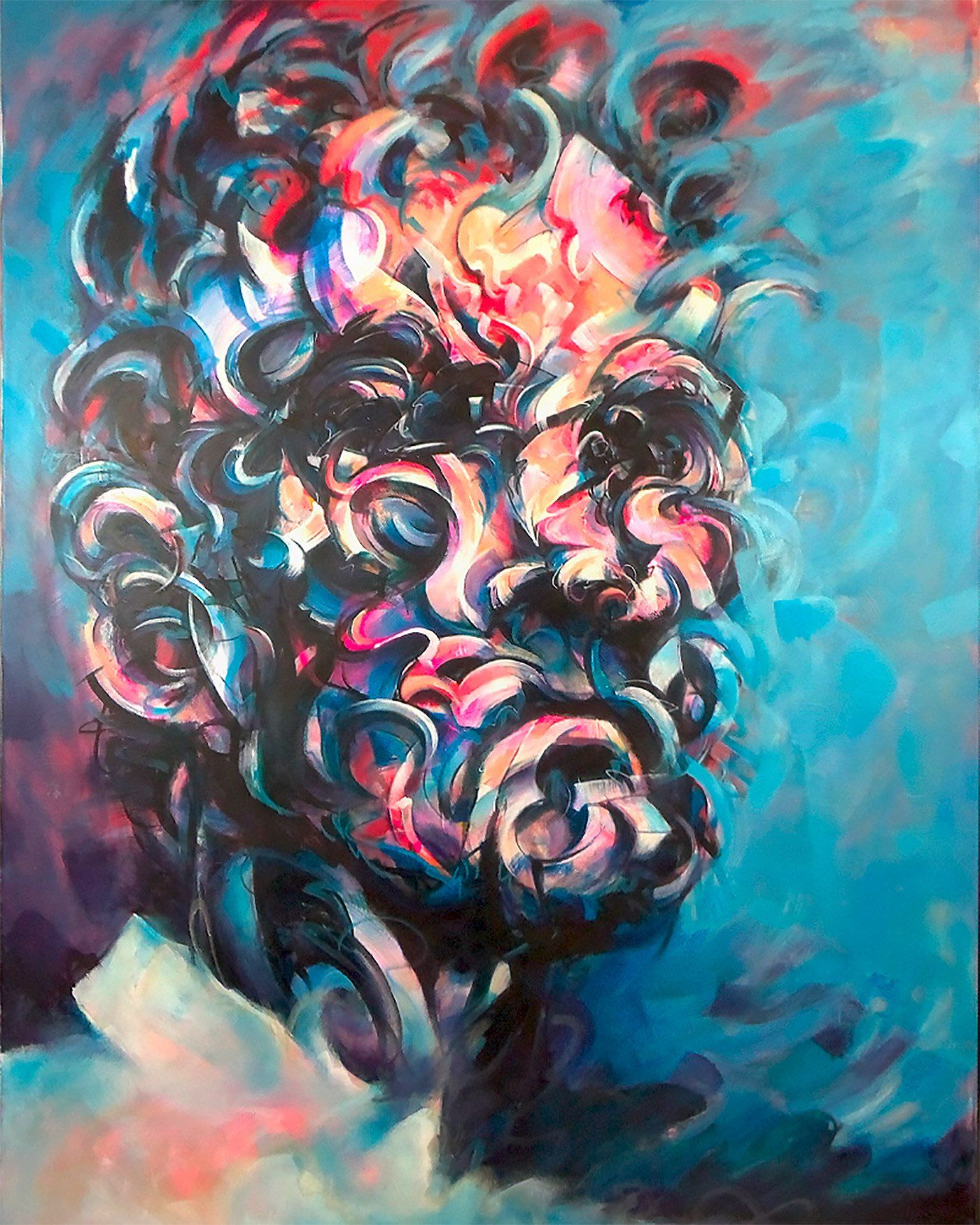Abstract portraits powerful paintings by mathijs vissers