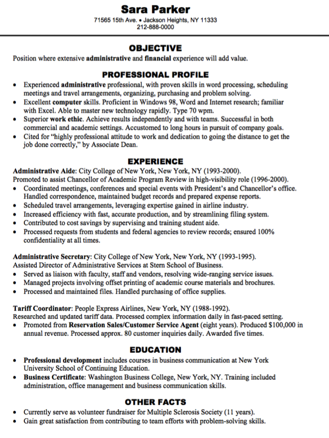 Airline Customer Service Agent Sample Resume 4 Sample Administrative Assistant Resume  Httpresumesdesign .