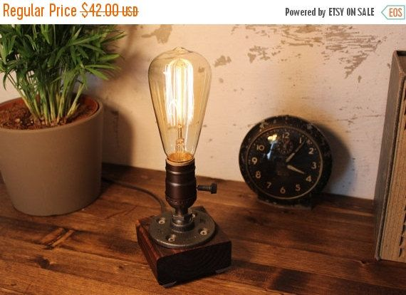 Table lamp Light Industrial Steampunk Lighting Edison Lamp