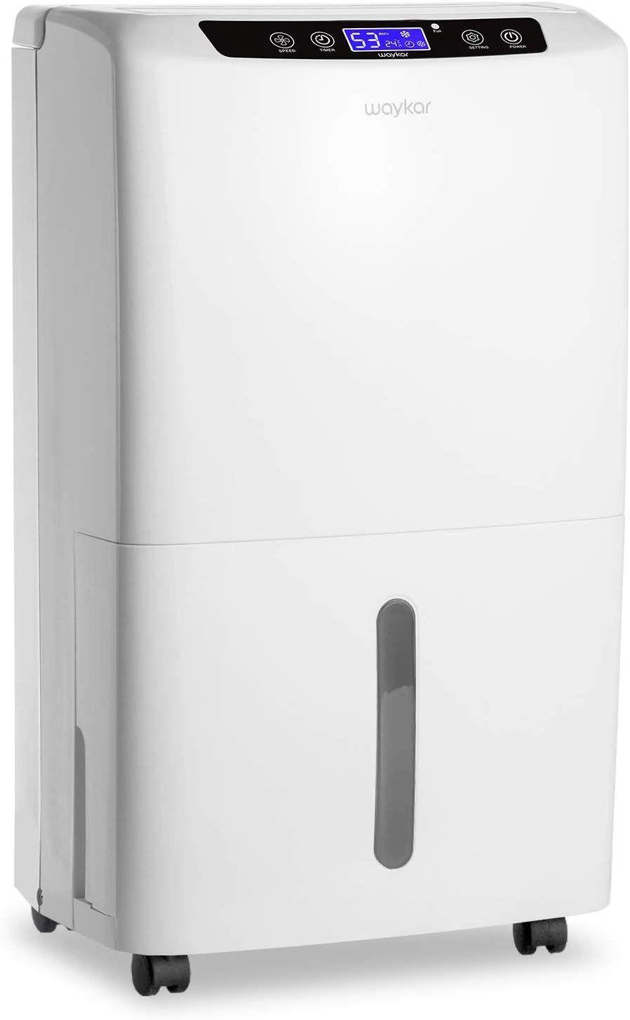 Waykar 40 Pint Dehumidifier For Home Basements Bedroom With Drain