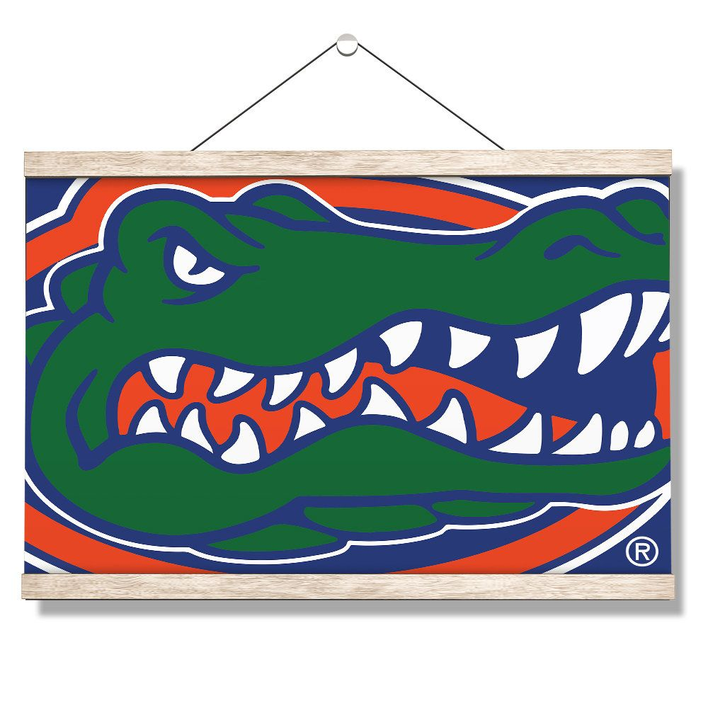 University Of Florida Gator Hanging Canvas Florida Etsy Scroll Wall Art Hanging Canvas College Wall Art