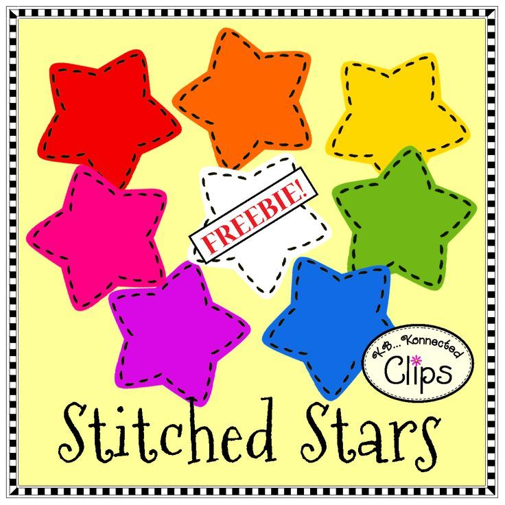 Clip Art Freebie! Stitched Stars #clipartfreebies