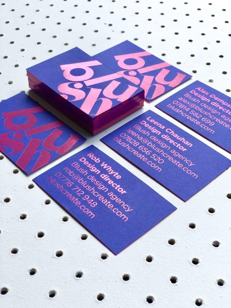 Blush Design Agency Business Card Business Card Design Inspiration Graphic Design Business Card Design Agency Business Cards Elegant Business Cards Design