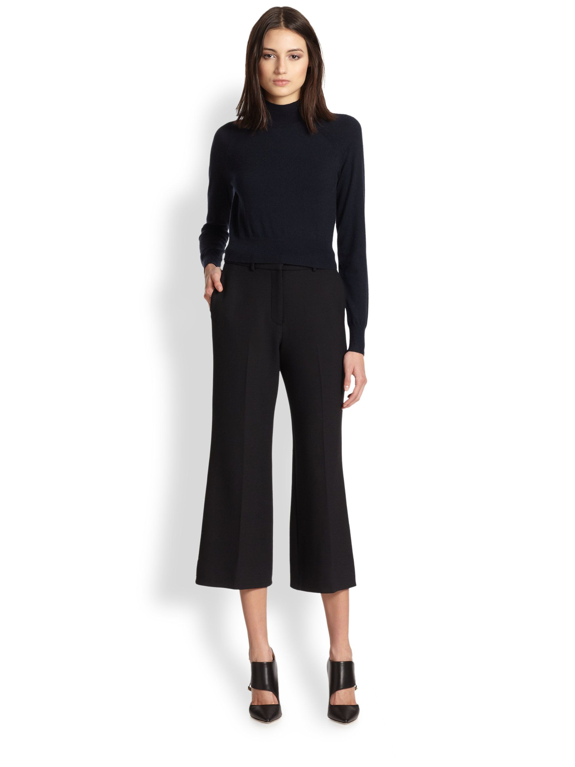 wide-leg-cropped-pants-black | Cropped Pants | Pinterest | Black ...