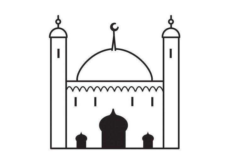 Coloriage mosquée - img 23131 (avec images) | Coloriage ...