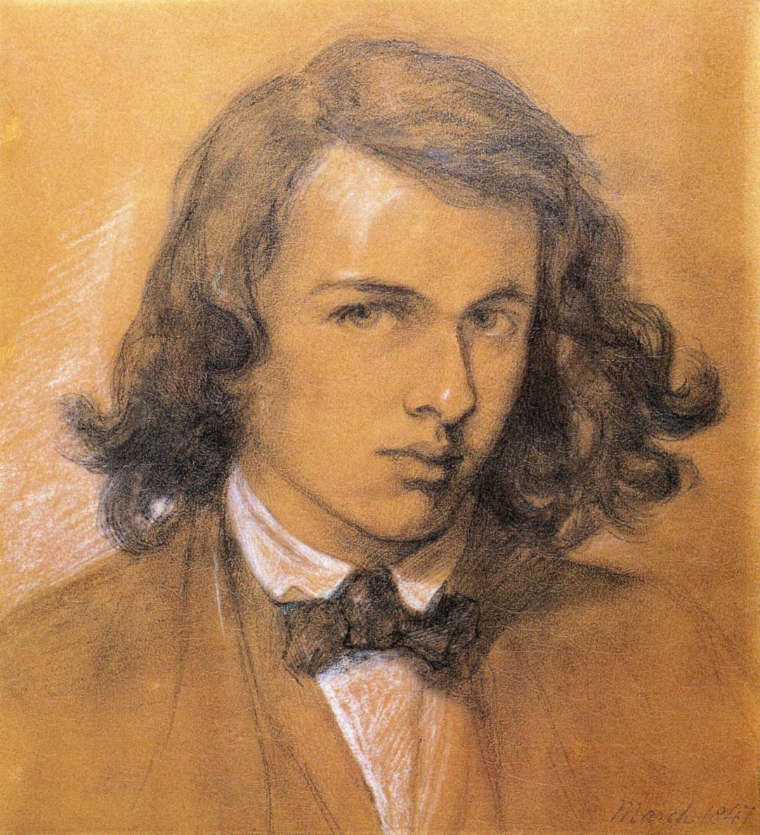 Dante Rossetti, self-portrait. National Portrait Gallery, London