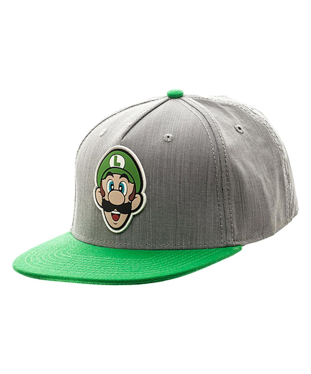 ec39a7024 Look at this Super Mario Luigi Rubber-Icon Snapback Baseball Cap - Adult on  #zulily today!