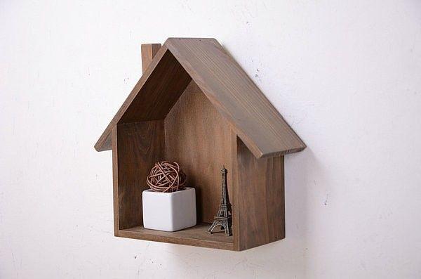 Zakka Wooden Box Bird House Model House Storage Box Home Decor Craft  Accessories Box Wood Free Shipping
