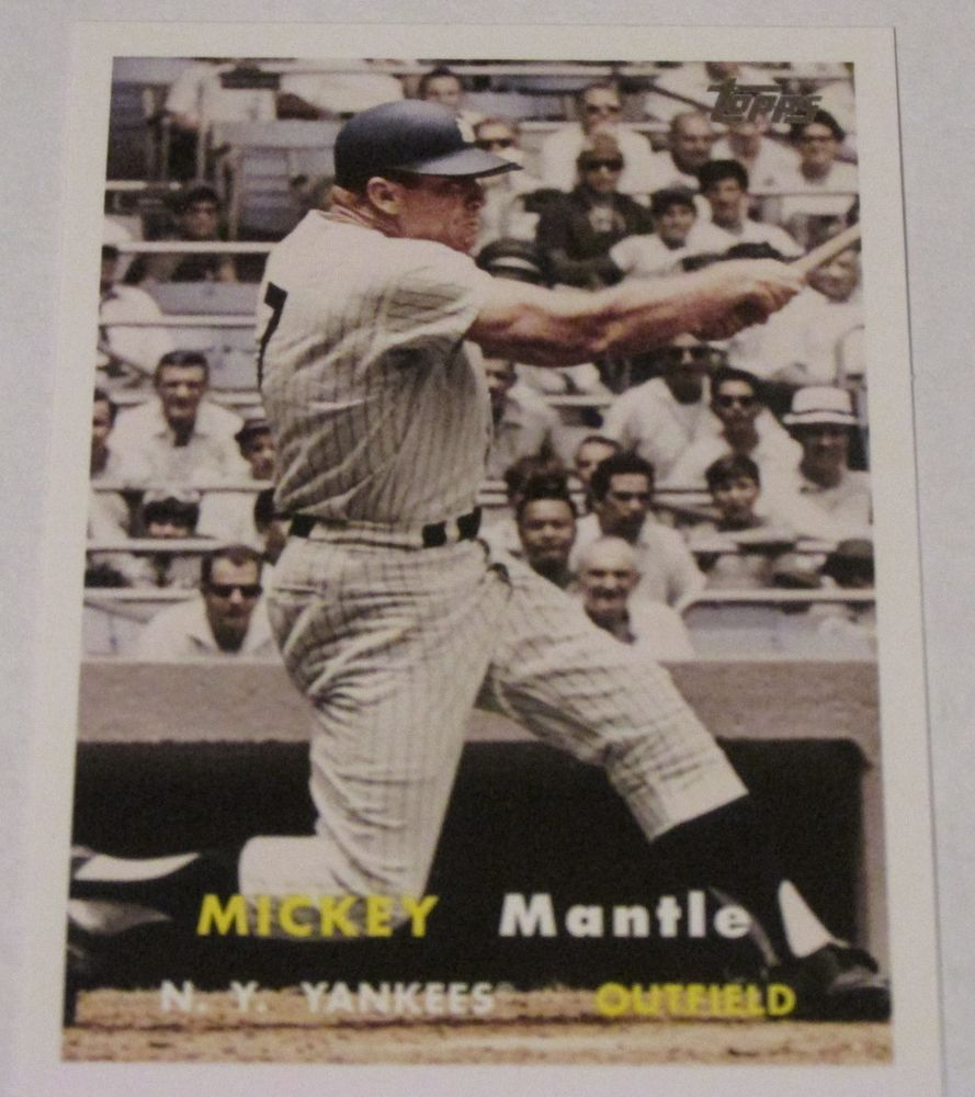 Mickey Mantle 2008 Topps Updates Highlights Card Mms67 Mickey Mantle Baseball Cards Mantle