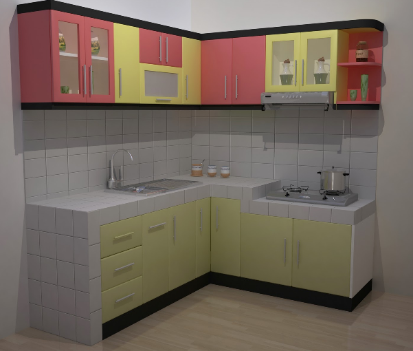 Desain Rumah Minimalis Inilah  Inspirasi Dapur Minimalis Berbentuk L Terbaik