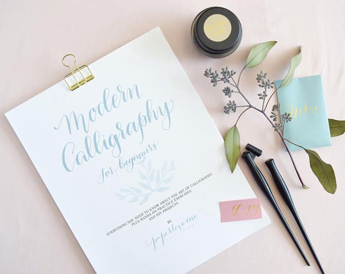 Modern calligraphy for beginners workbook how to calligraphy