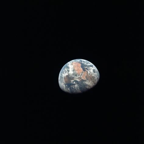 'Apollo 11 Earth View from Space from More Than 100,000 Miles, July 17, 1969' Photo - | Art.com
