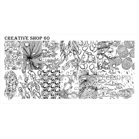 PRE-ORDER! Creative Shop- Stamping Plate- 60
