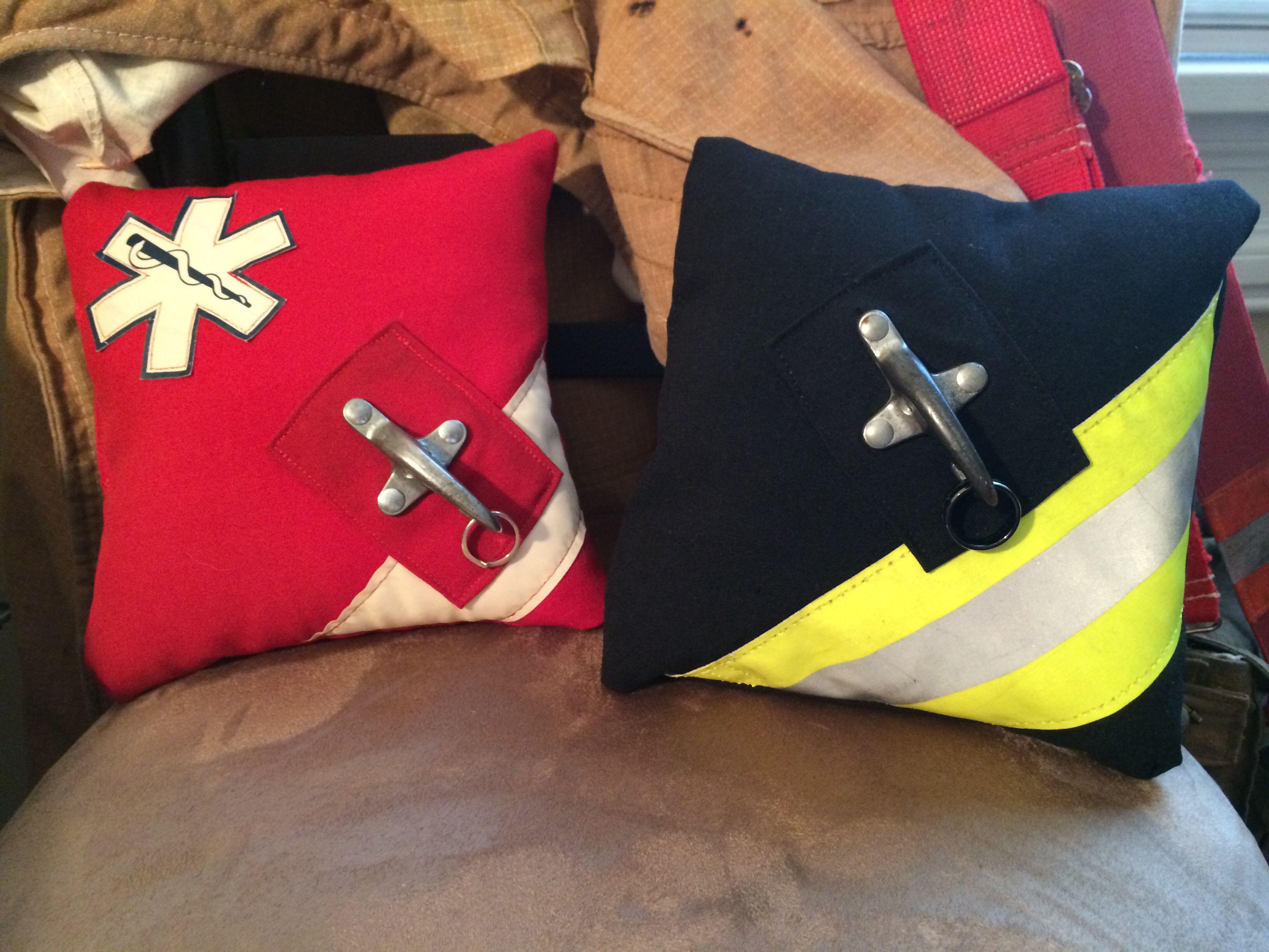 Firefighter Wedding, Bunker Gear Ring Pillows