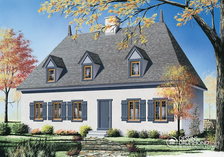 Plan modèle 1 étage et demi Dream HouseCottage Pinterest House