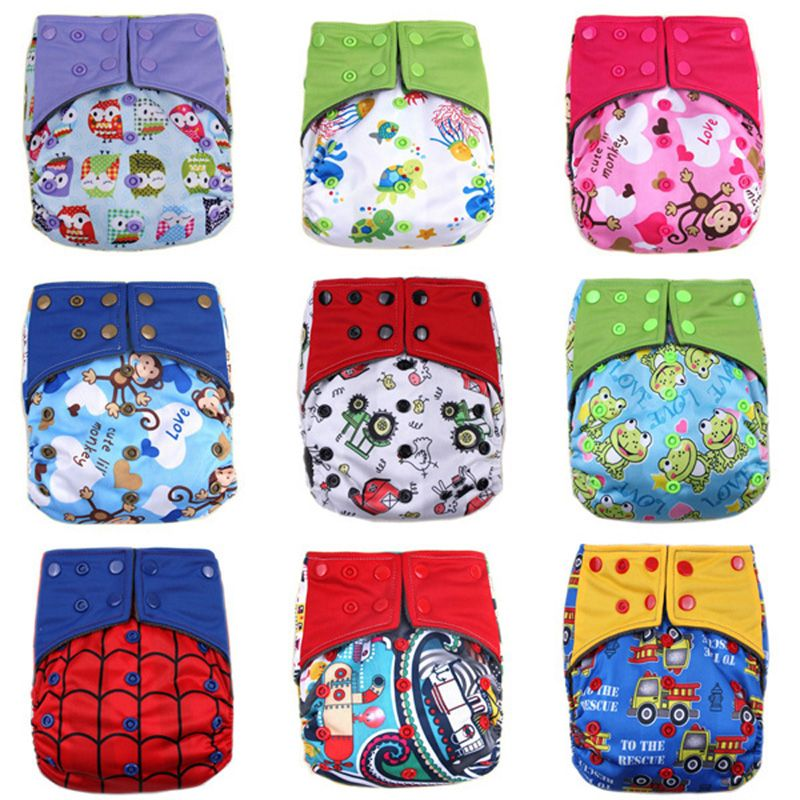 Infant Washable Breathable Adjustable Pocket Cloth Nappies Baby Diaper Reusable