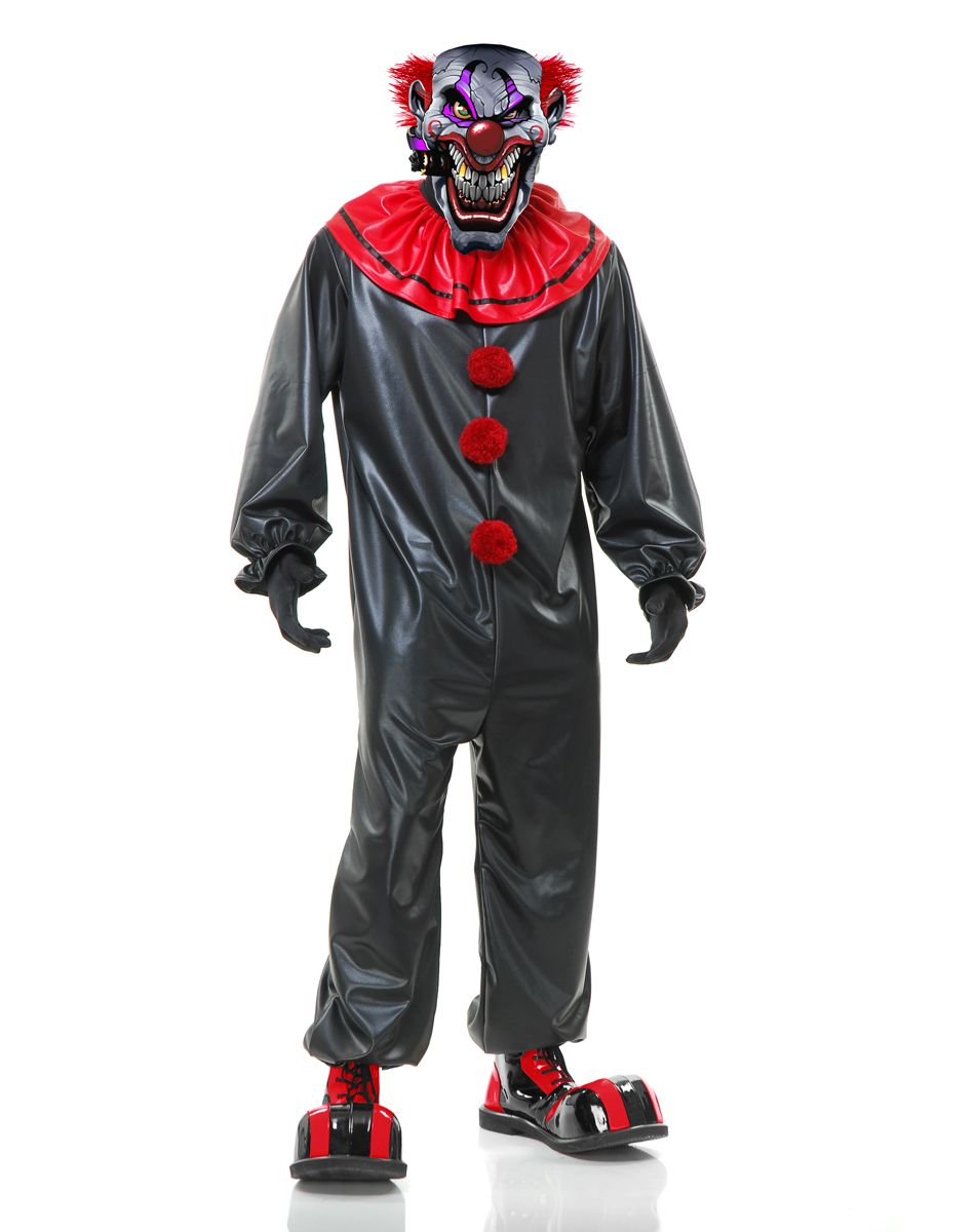 Smoking Joe Evil Clown Adult Mens Costume – Spirit Halloween ...