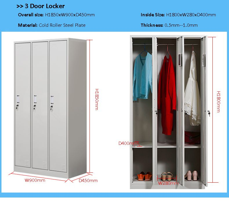 Furniture Our Standard Size Of 3 Door Locker For Clothes Storage Cabinet Www Sj Furniture Com Sales Sj Furniture Com Clothes Cabinet Furniture Locker Storage