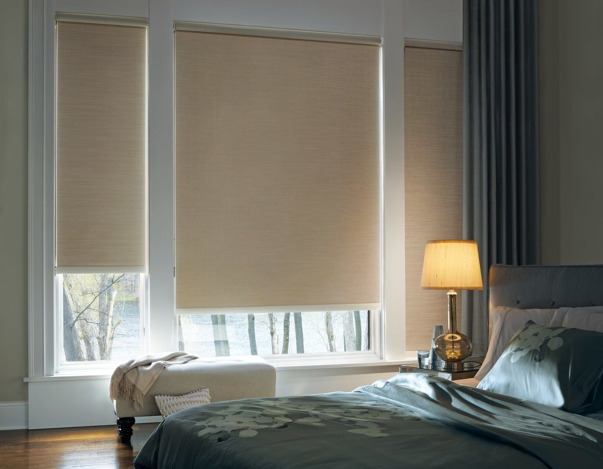 The designer roller shades from Hunter Douglas are a great