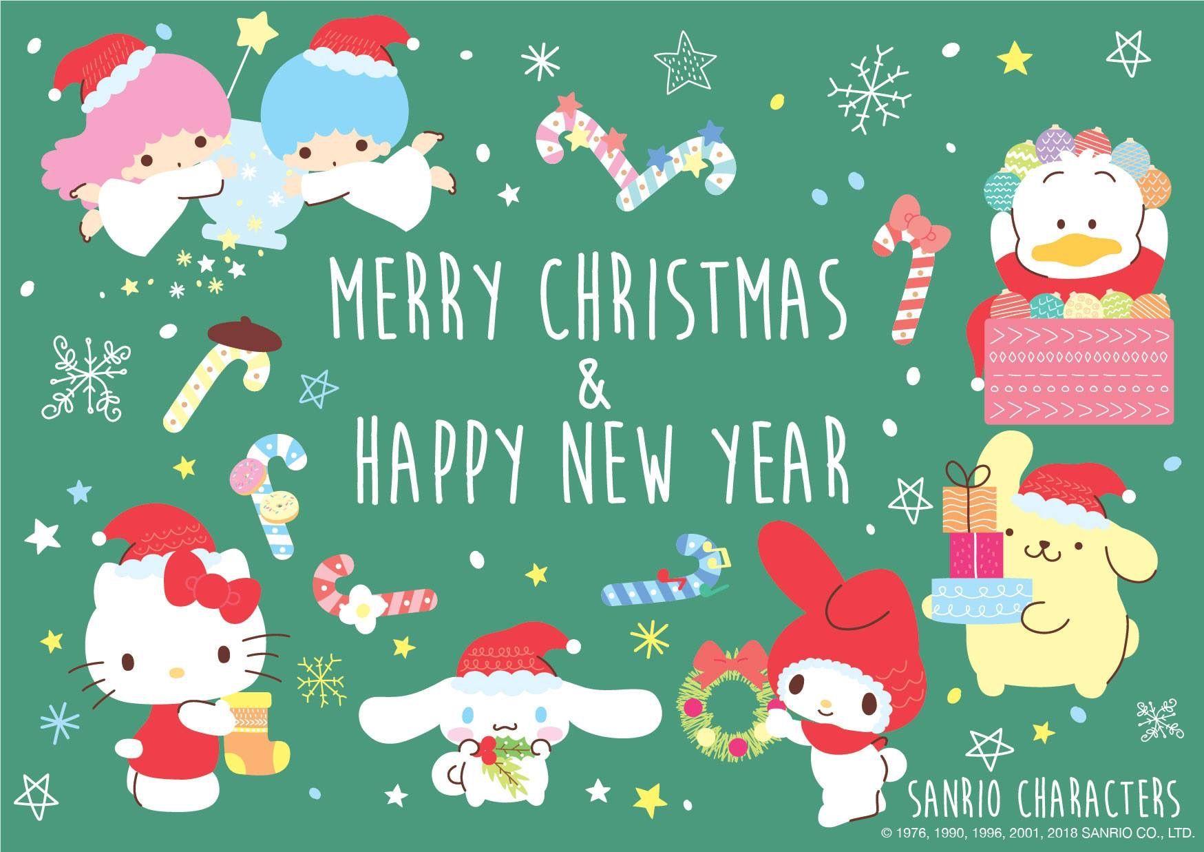 Merry Christmas Happy New Year Hello Kitty Christmas Cards Hello Kitty Christmas Hello Kitty Wallpaper