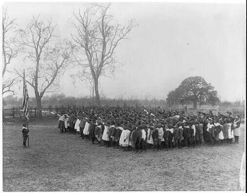 First Memorial Day, May 1, 1865 organized by former slaves in memoty of fallen Union soldiers who had been buried in a mass grave.