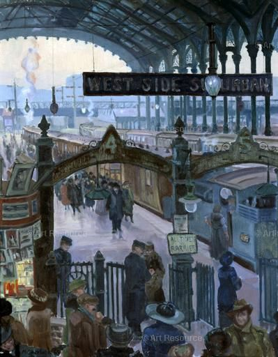 1920s, Liverpool Street Station, London - by Marjorie Sherlock ...
