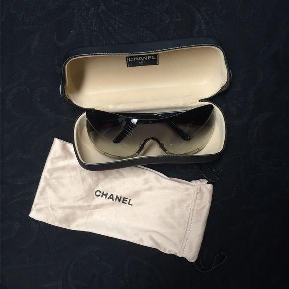 49d40ca525a Chanel sunglasses Authentic Chanel sunglasses. Black frame. Ombré lens. Excellent  condition. CHANEL Accessories Sunglasses