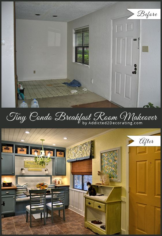 My Tiny Condo Breakfast Room Makeover U2013 Before And After This Is The Best  Before And